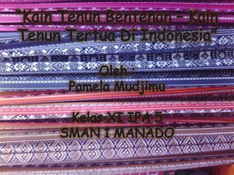Kain Batik Prada Khas Pekalongan 5 kain batik bentenan khas sulawesi utara