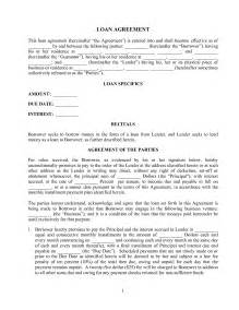 doc 400518 sample lending contract loan agreement