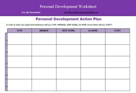 best photos of personal development action plan template