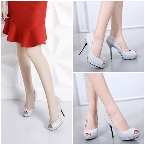Sepatu High Heels Wanita 5cm Uc03 jual shh1062 silver sepatu heels 11 5cm grosirimpor