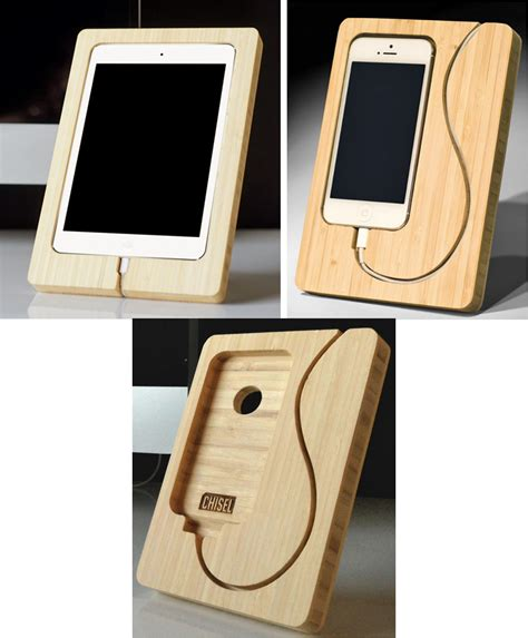 phone charging stand chisel out some space for an ipad mini or iphone charging