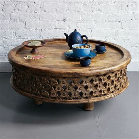carved wood coffee table carved wood coffee table eclectic coffee tables by