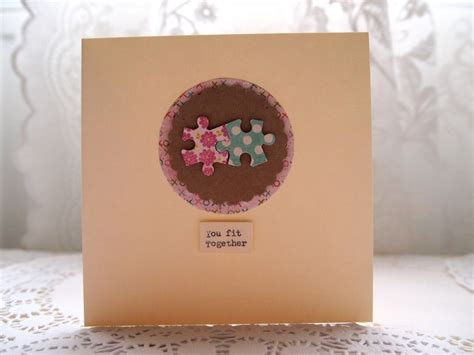 Handmade Wedding Cards Etsy - 1000 images about jigsaw pieces on