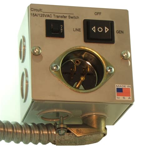 Switch Genset single circuit generator transfer switch