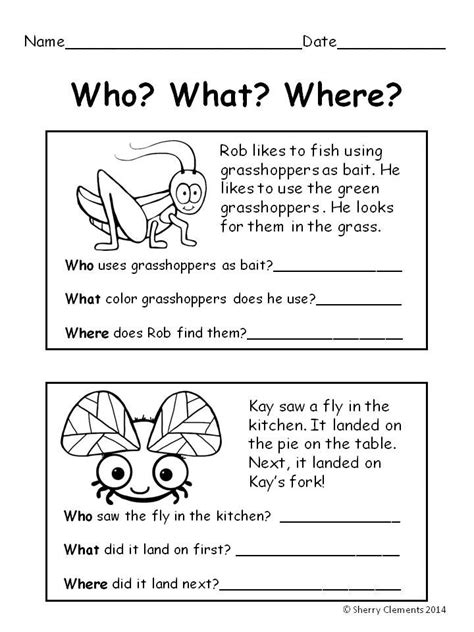 Comprehension Worksheets With Questions by 17 Best Ideas About Reading Comprehension On