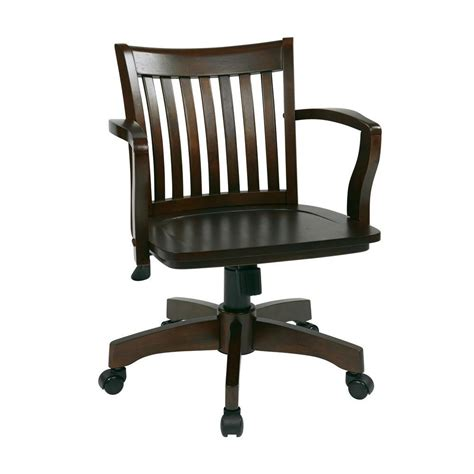 Wood Bankers Chair by Ospdesigns Deluxe Brown Wood Bankers Chair 105es The