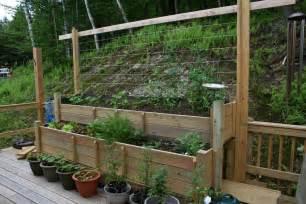 Deck vegetable garden ideas growing vegetable gardens on