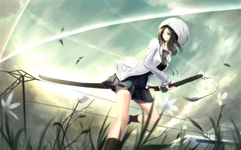 anime and wallpaper asako kusakabe anime katana anime 225
