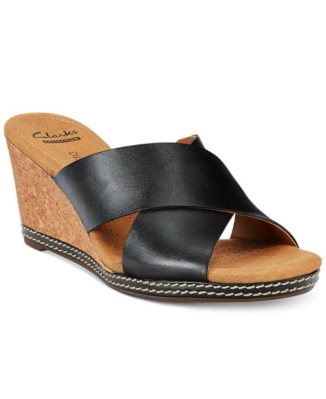 clarks wedge sandal clarks collection s helio swan wedge sandals in