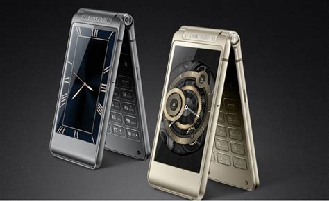 samsung w 2016 samsung w2016 flip phone with dual displays launched