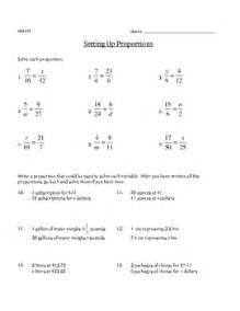 setting up proportions math worksheet by leslie mohlman