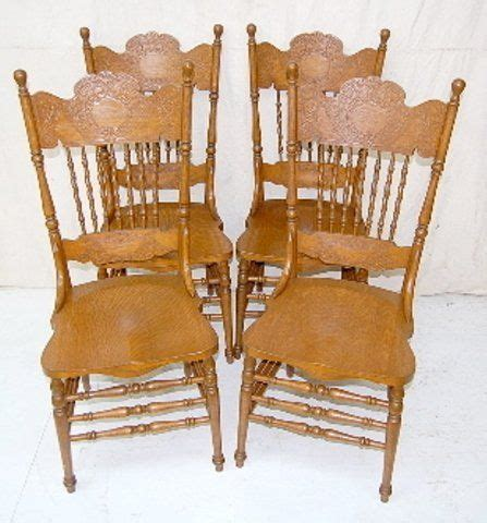 antique oak kitchen table and chairs set of 4 antique oak pressed back chairs farmhouse