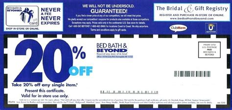 20 Coupon Bed Bath Beyond bed bath and beyond coupons
