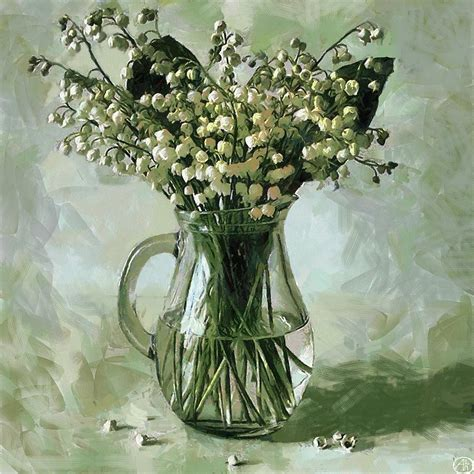 lily of the valley painting by vasiliy agapov