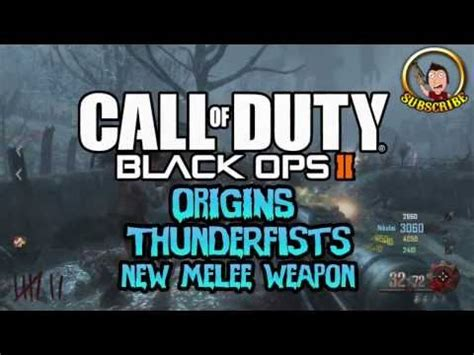 zombie origins tutorial black ops 2 zombies origins new thunderfist melee weapon