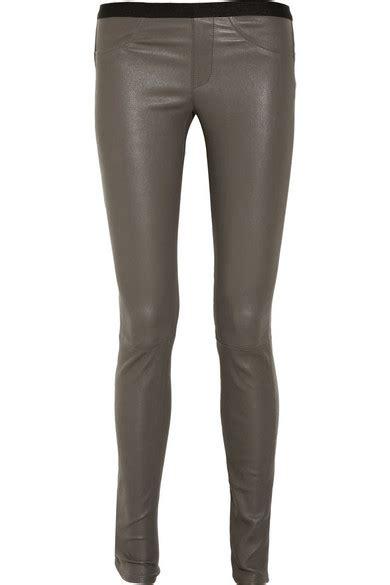 26121 Gray Stretch Leather helmut lang stretch leather net a porter