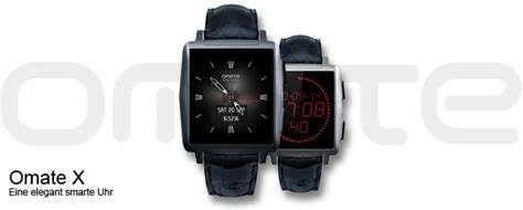 Smartwatch Omate X omate x fashion smartwatch mit touchscreen