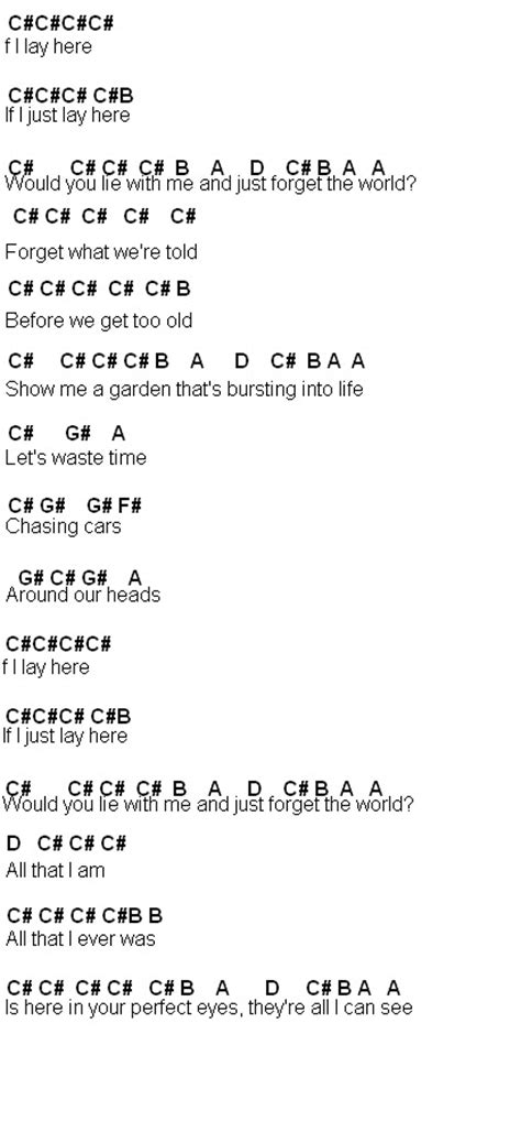 Fancy Chasing Cars Chords Guitar Image Collection Basic Guitar