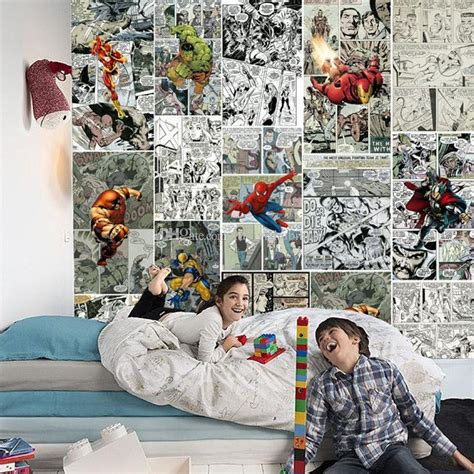 bedroom marvel kids bedroom extraordinary super hero wall marvel comics wallpaper 3d wallpaper for walls mural kids