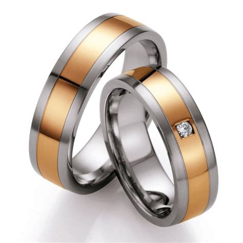 eheringe edelstahl rotgold eheringe shop gold und steel trauringe edelstahl und 585