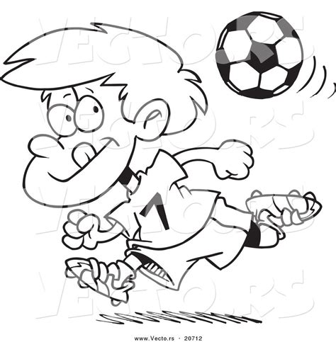 coloring page of boy running vector of a cartoon running soccer boy coloring page