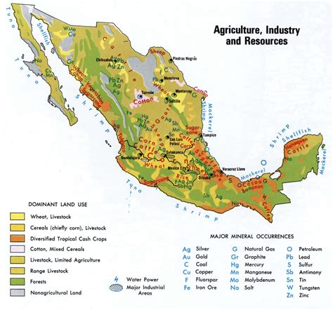 resource map of mexico resources of mexico