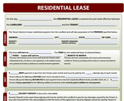 residential lease forms free download and software
