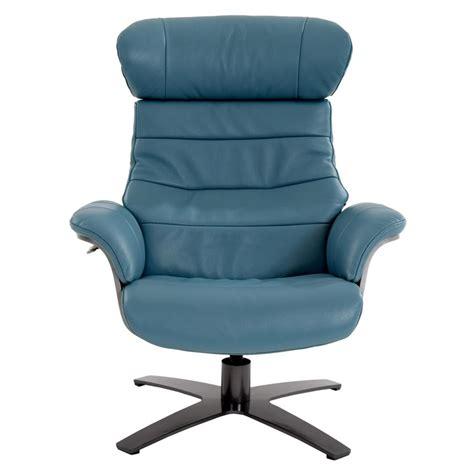 enzo leather recliner chair enzo blue leather swivel chair el dorado furniture