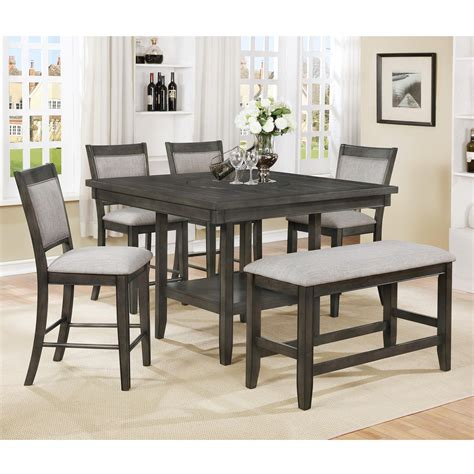 crown 4 counter height table set crown fulton 6 pc counter height table chair bench