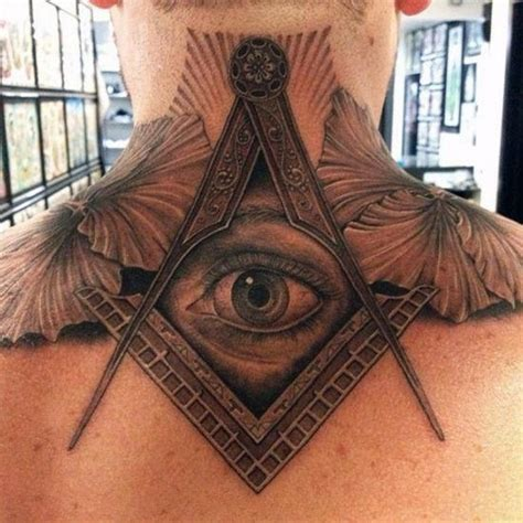 all seeing eye tattoo design top 40 best neck tattoos for manly designs and ideas