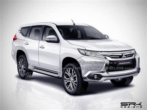 mitsubishi pajero 2016 white 2016 mitsubishi pajero sport spied at its commercial shoot