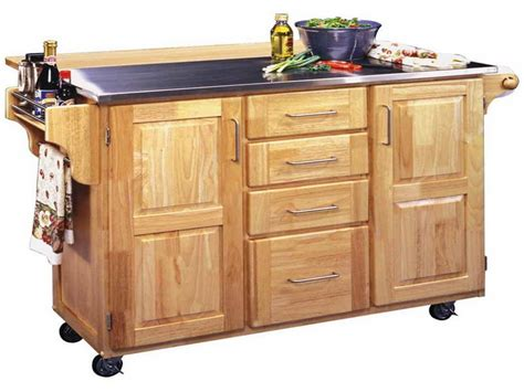 Kitchen Rolling Islands large rolling kitchen island cart 6550