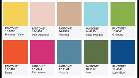 color of year pantone colors of the year 2017 color fashion trends