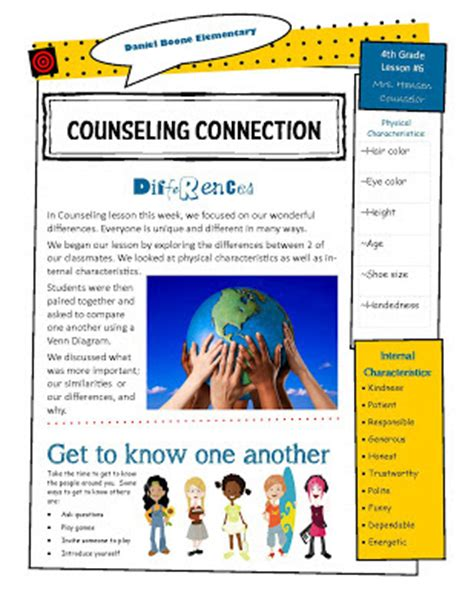 school counselor newsletter hanselor the counselor 4th grade lesson