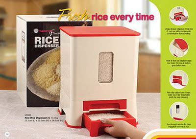 Dispenser Rice tupperware on offer buy tupperware in singapore
