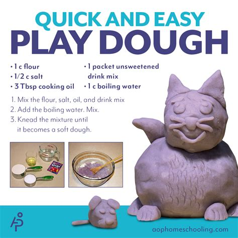 aop homeschooling and easy play dough