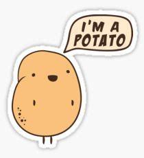 internet meme potato stickers redbubble