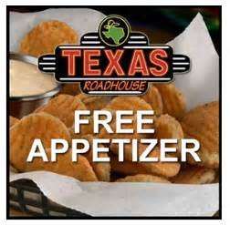 Road House Eat Free by Roadhouse Free Appetizer Couponing With
