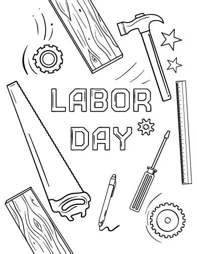printable coloring pages labor day printable labor day coloring page free pdf download at
