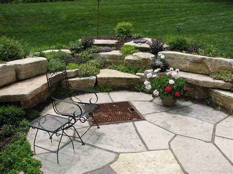 how to build a flagstone fire pit out of a kit fire pit design ideas