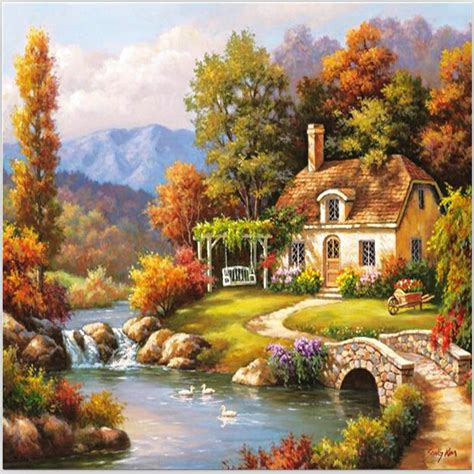 house painting art online buy wholesale beautiful house painting from china