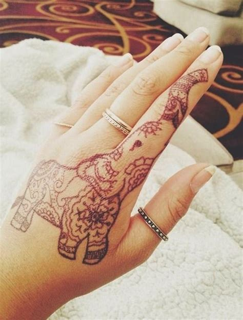 henna tattoo hand meaning elephant images designs