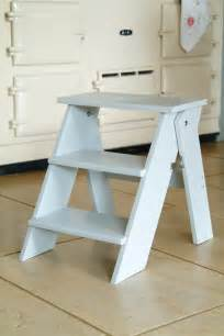 folding kitchen step stool in chalk at garden trading