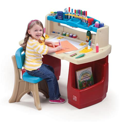 step 2 art table deluxe art master desk kids art desk step2