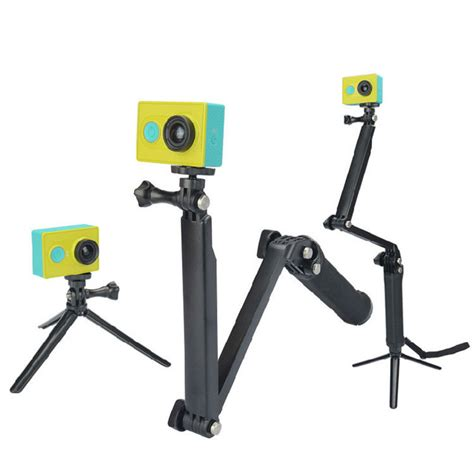 3 Way Monopod Tripod For Gopro Xiaomi Sjcam 3 way grip monopod extension arm mini tripod mount for xiaomi yi gopro 4 3 sjcam sj4000