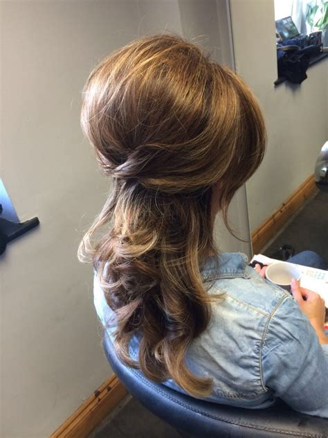 short haircut with lots of volume and backcombing 25 best ideas about hair pinned back on pinterest