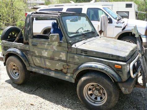 Suzuki Convertible 4x4 Sell Used 1987 Suzuki Samurai W Trailer Cer Tow Bar