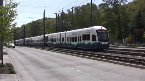 sound transit light rail sound transit testing light rail with two cars trains 1