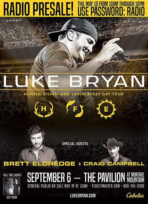 Live Nation Gift Card Code - exclusive luke bryan presale code