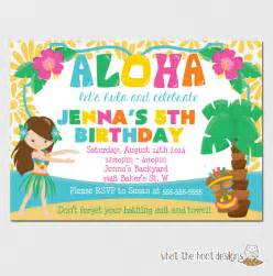 luau invitation luau birthday luau pool